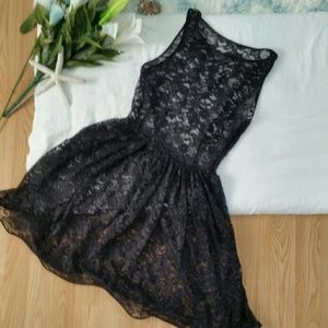Dresses & Skirts - Black Lace Overlay Dress